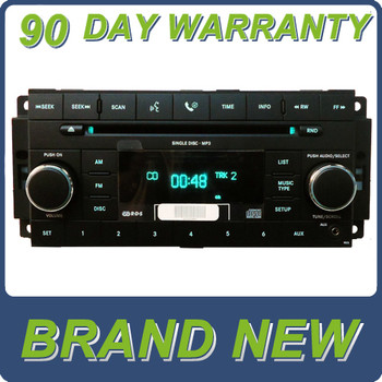 NEW 2007 - 2013 Chrysler Jeep Dodge OEM AM FM Radio AUX MP3 CD Player Receiver RES