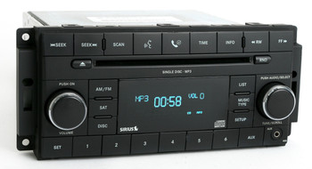 2007 - 2012 Chrysler Jeep Dodge OEM AM FM Radio AUX Satellite MP3 CD Player Receiver RES