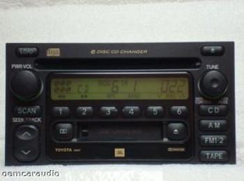 Toyota Radio Tape and 6 CD Changer 86120-08140 Sienna 2000 2001 2002 2003