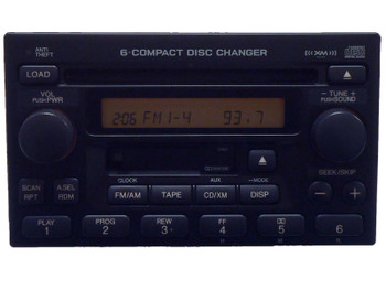Remanufactured 98 99 2000 01 02 Honda Accord CRV Odyssey Radio XM TAPE and 6 Disc CD Changer 39100-S9A-A601 or 39100-A9A-A200