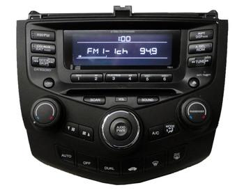 Re-manufactured 2004 - 2007 Honda Accord Radio and 6 CD  Changer 7BK1 39175-SDA-A120-M2