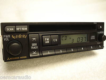 02 03 04 Mitsubishi GALANT MONTERO Sport DIAMANTE Outlander Factory (OEM) Premium Infinity Radio and CD Player P004