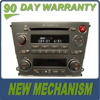 Remanufactured SUBARU Legacy 2.5L 3.0L Radio Stereo 6 Disc Changer CD Player P-201UH Automatic Climate Controls 2005 2006