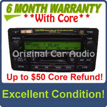 Toyota Tundra Radio Tape 6 Disc CD Changer JBL Stereo