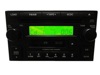 05 06 07 08 Hyundai Tucson Accent Radio Cassette and 6 CD Player