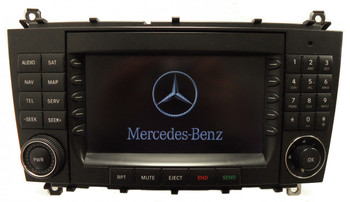 2005 - 2009 Mercedes-Benz CLK Class OEM Command Non-Navigation Radio CD Player Display 203 Type