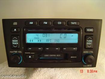 Toyota Avalon Radio Tape and CD Player 86120-AC080 2000-2004