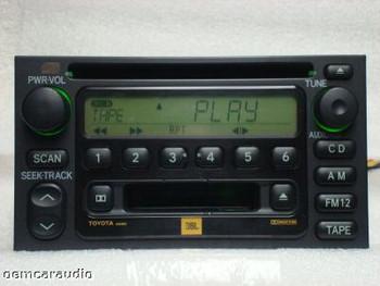 Toyota Camry Sequoia Tundra Sienna JBL Radio Tape and CD Player