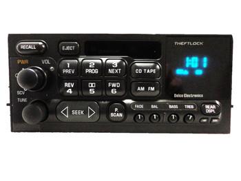 GMC CHEVY CHEVROLET CADILLAC Yukon Denali Sierra Silverado Tahoe Escalade Astro Radio Stereo Tape Cassette Player 09354155 1996 1997 1998 1999 2000 2001 UL0, UP0