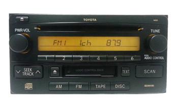 03 04 05 06 07 08 TOYOTA CELICA HIGHLANDER RAV4 Factory OEM Radio, Tape, and CD Player 86120-2B760, 11830