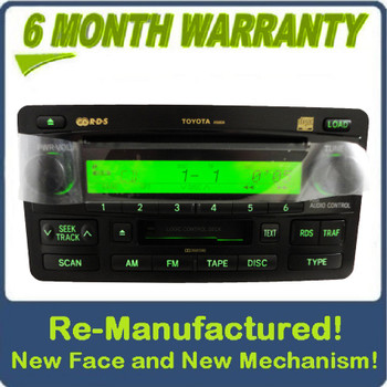 Re-Manufactured Toyota Tundra Radio Tape 6 Disc CD Changer 86120-0C091 2003-2004 NEW FACE NEW MECHANISM