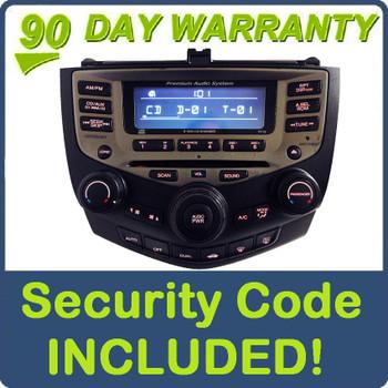 04 05 06 07 Honda Accord Premium Audio System Radio XM Aux  6 Disc Changer CD Player 7FY2