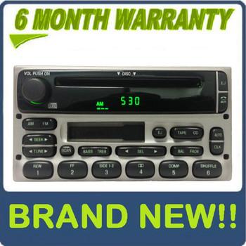 BRAND NEW 1998 - 2005 Ford / Lincoln / Mercury  Radio CD player Silver
