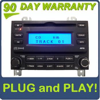 07 08 Hyundai ELANTRA Radio XM Satellite MP3 CD Player Black 96160-2H1519K