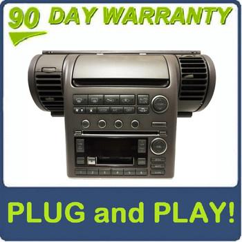 03 04 INFINITI G35 G-35 Radio 6 Disc Changer CD Tape Player BOSE AC Temp Controls and Bezel 2003 2004 GREY OEM