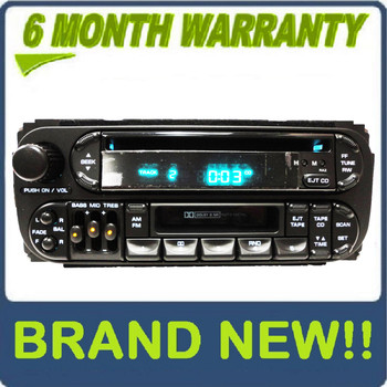 NEW 1998 - 2003 Jeep Dodge Chrysler OEM AM FM Radio Tape CD Player Receiver RAZ
