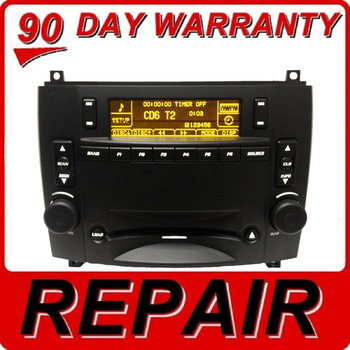 03 04 05 06 07 REPAIR YOUR CADILLAC CTS SRX OEM Radio 6 Disc Changer CD Player REPAIR 2003 2004 2005 2006 2007