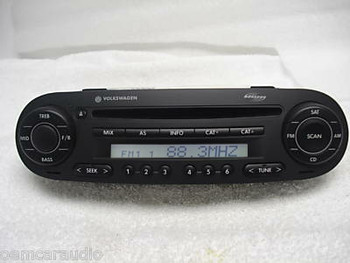 NEW VW VOLKSWAGEN Beetle Bug AM FM Radio Stereo CD Player Monsoon 1998 1999 2000 2001 2002 2003 2004 2005 2006 2007 2008 2009 2010 1C0035196Q 1C0035196F