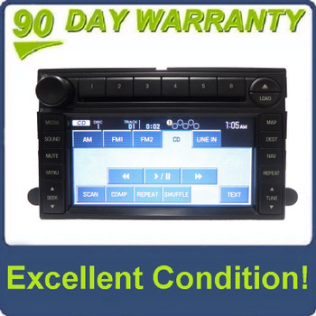 2006 - 2009 FORD LINCOLN MERCURY OEM Navigation Radio AUX MP3 6 Disc Changer CD Player DATA