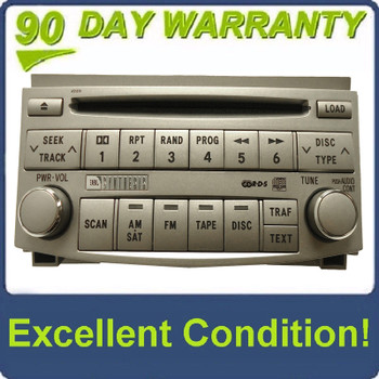 TOYOTA Avalon JBL Radio Stereo 6 Disc Changer CD Player A51819 OEM 2005 2006 2007 2008 2009 2010 2011