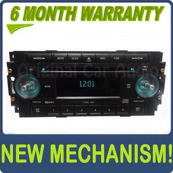 2004 - 2008 Chrysler Jeep Dodge OEM AM FM Radio MP3 6 Disc Changer CD Player Receiver No Knobs RAQ