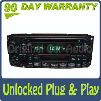 02 03 04 05 Chrysler Jeep Dodge Radio Cassette and CD Player RAZ RBP RBU