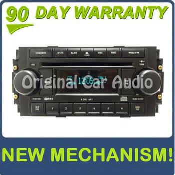 NEW MECH 2004 - 2008 Chrysler Jeep Dodge OEM AM FM Radio MP3 6 Disc Changer CD Player Receiver RAQ