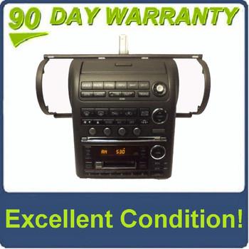2003 2004 INFINITI OEM G35 Black GPS Navigation Radio Stereo 6 Disc Changer CD Player Tape
