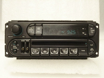 1998 - 2002 Chrysler Dodge Jeep OEM AM FM Radio CD Player Receiver RBK