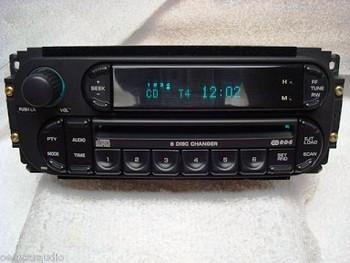 2003 - 2005 Chrysler Jeep Dodge OEM AM FM Radio 6  CD Changer Receiver RBQ