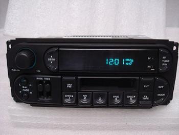 2002 - 2007 Chrysler Jeep Dodge OEM AM FM Radio Tape Cassette Player Receiver RBB