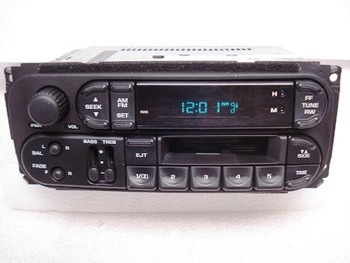 1998 - 2003 Chrysler Jeep Dodge OEM AM FM Radio Cassette Player Receiver