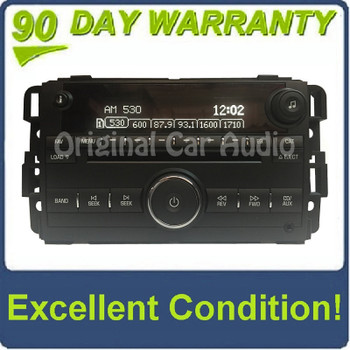 2007 2008 Saturn Pontiac OEM AM FM Radio MP3 6 disc changer AUX
