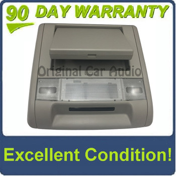 GMC overhead DVD player screen with bezel and dome lights