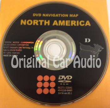 Toyota Lexus Navigation Map DVD 86271-33041 DATA Ver. 03.2 D