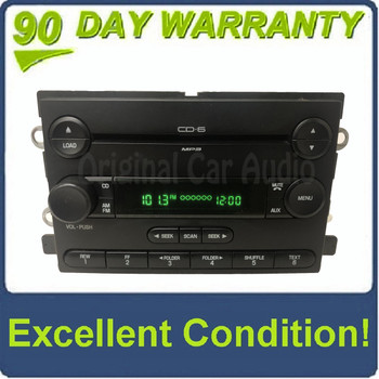 2005 - 2007 Ford F-150 Freestyle Mustang AM FM Radio MP3 6 Disc CD Changer