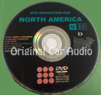 Toyota Lexus Navigation Map DVD 86271-53023 DATA Ver. 08.1 U33