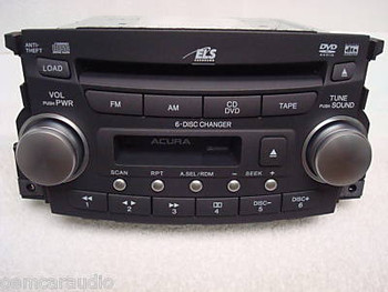 04 05 06 Acura TL Radio 6 Disc DVD CD Changer Cassette 1TB1 OEM
