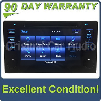 2015 - 2019 Toyota OEM Gracenote Touch Screen Display AM FM HD Radio CD Player Receiver P10982 P11261