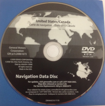 GM Satellite Navigation System CD 20861673 Version 5.0c