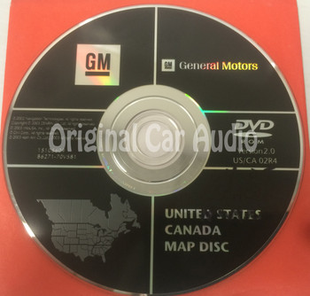 GM Satellite Navigation System CD 15105609 Version 2.0