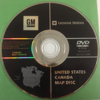GM Satellite Navigation System CD 10390370 Version 3.0