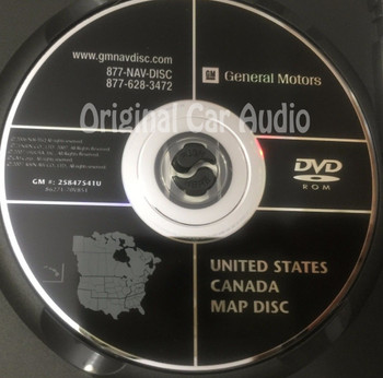 GM Satellite Navigation System CD 25847541 or 25847541U