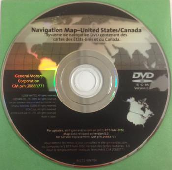 GM Satellite Navigation System CD 20883771 Version 8.3