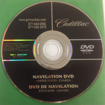 GM Satellite Navigation System CD 25853487