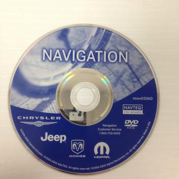 2006 - 2008 Chrysler Jeep Dodge OEM RB1 Navigation Disc DVD 05064033AD