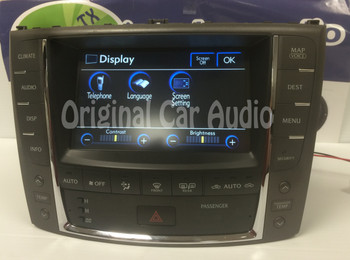 2009 Lexus IS350 OEM Navigation Radio AM FM Display Screen With Climate Controls