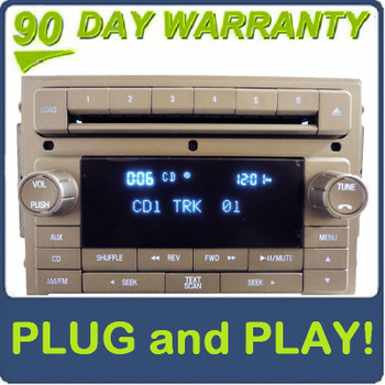 2006 - 2010 LINCOLN  MKZ MKX Zephyr Navigator Factory OEM AM FM Radio 6 CD Changer Player Receiver