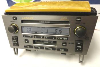 05 - 10 Lexus SC430 Radio Tape Cassette Mark Levinson Radio 6 CD Changer P6846