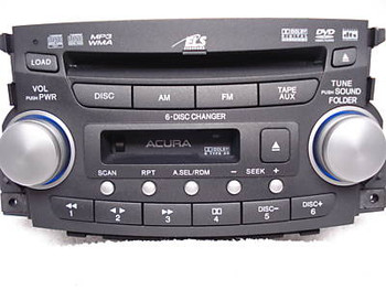 06 07 08 Acura TL Radio 6 Disc CD Changer DVD Cassette 1SB1 OEM